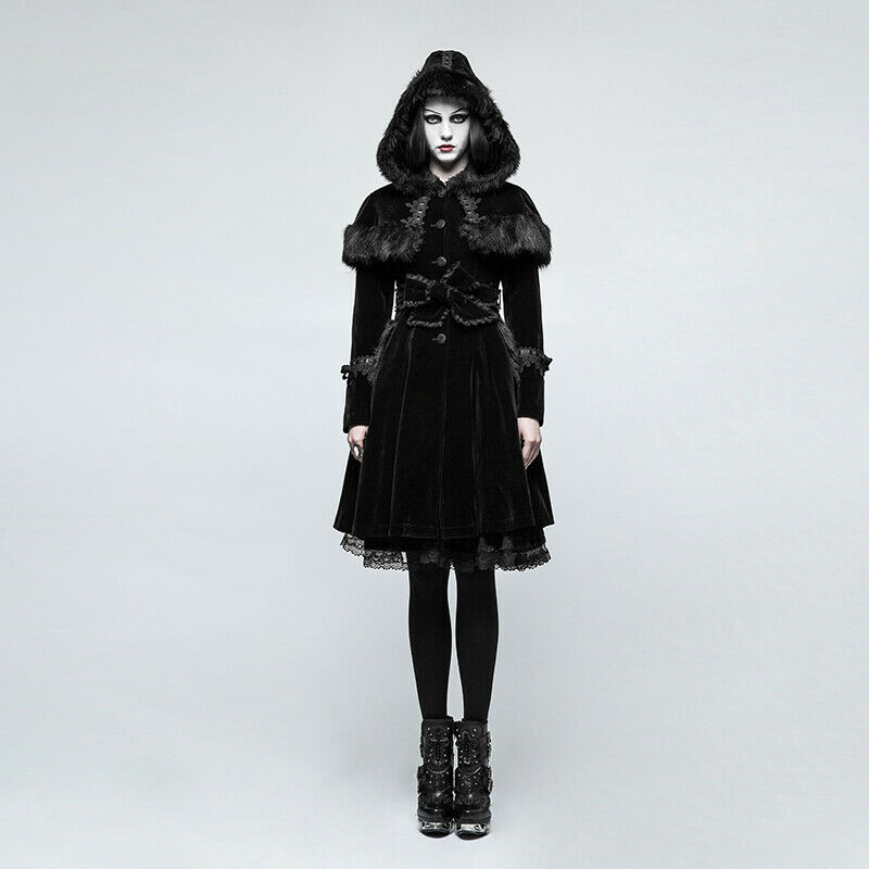 Punk Rave Dames Jas Gothic Lolita Doll Viktoriansk Aristocrat LY -065