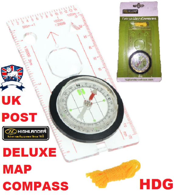 Survival Military Army Cadet Scout Hiking Walking Map Reading Sighting Compass