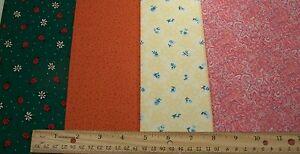 4-Fat-Quarters-FQ-18-X-22-034-Multi-Prints-Cotton-Quilt-Fabric-DEBs-Material-Lot-1