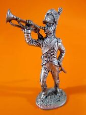 R34 Trumpeter of the carabinier regiment Russia scale 1//32 Tin Toy Soldiers Metal Sculpture Miniature Figure Collection 54mm