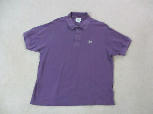 Lacoste-Polo-Shirt-Adult-Large-Size-6-Purple-Green-Crocodile-Casual-Rugby-Men-A9