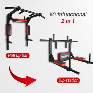 OneTwoFit-Multifunction-Pull-up-Bar-Chin-up-Station-Wall-Mounted-Training-OT126