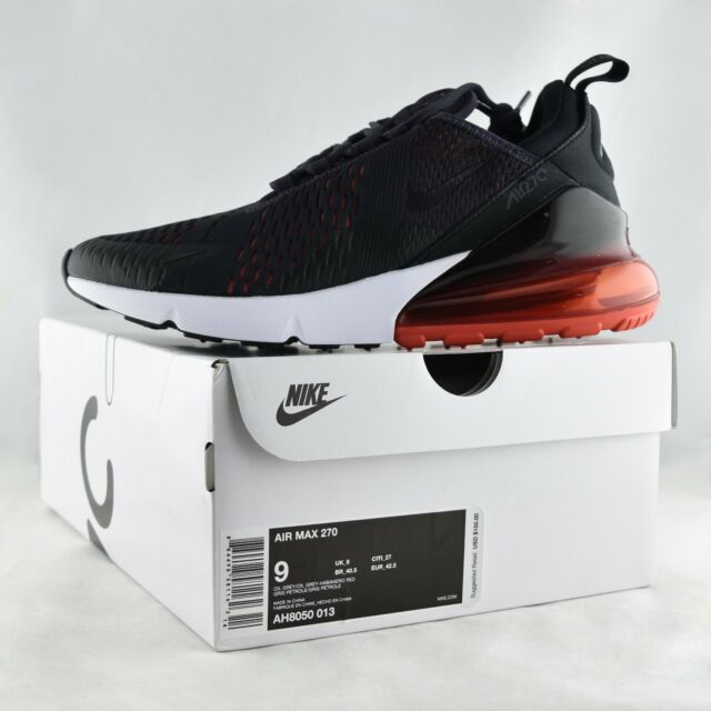 Details about Nike Air Max 270 Shoes Oil Grey Black Red AH8050 013 Running Men's
