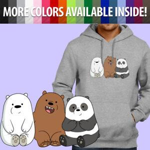 We Bare Bears Panda Grizzly Ice Bear Brothers Pullover Sweatshirt Hoodie Sweater