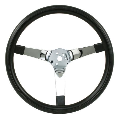 "EMPI Steering Wheel CHROME 3-SPOKE,SOLID 4/"" DISH BUG BAJA BUGGY 14-3//4 DIA"