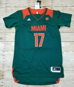 NWT Men Adidas SAMPLE Basketball Jersey NCAA Miami Hurricanes The U ... 7c90d43a6