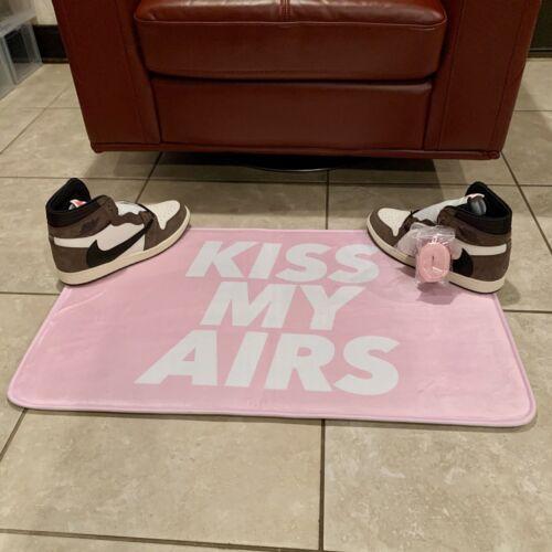 Kiss My Airs Pink Floor Mat Sneaker Hype Fashion Rug Home Decoration Kicks Room