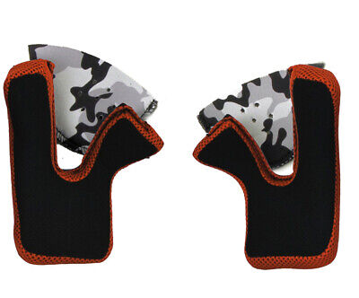 AFX Cheek Pads for FX-17//Y Helmet XL Orange