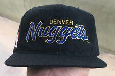 Vintage Denver Nuggets Script NBA Black Dome Sports Specialties SnapBack