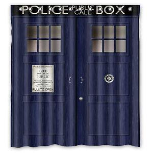 Image Is Loading TARDIS Doctor Who Custom Fabric Durable Waterproof Shower