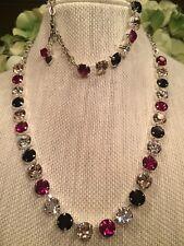 Red White Black 8MM SWAROVSKI Crystal Elements Necklace Jewelry Set New