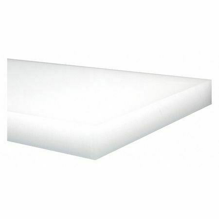 """0.063/"""" Thick 24/"""" W POLYMERSHAPES 1YZZ3 Off-White LDPE Sheet Stock 48/"""" L"""