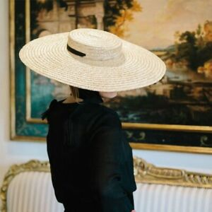 Newest Women Sun hat French Style Wide Brim Straw hat Casual Natural Wheat Straw hat