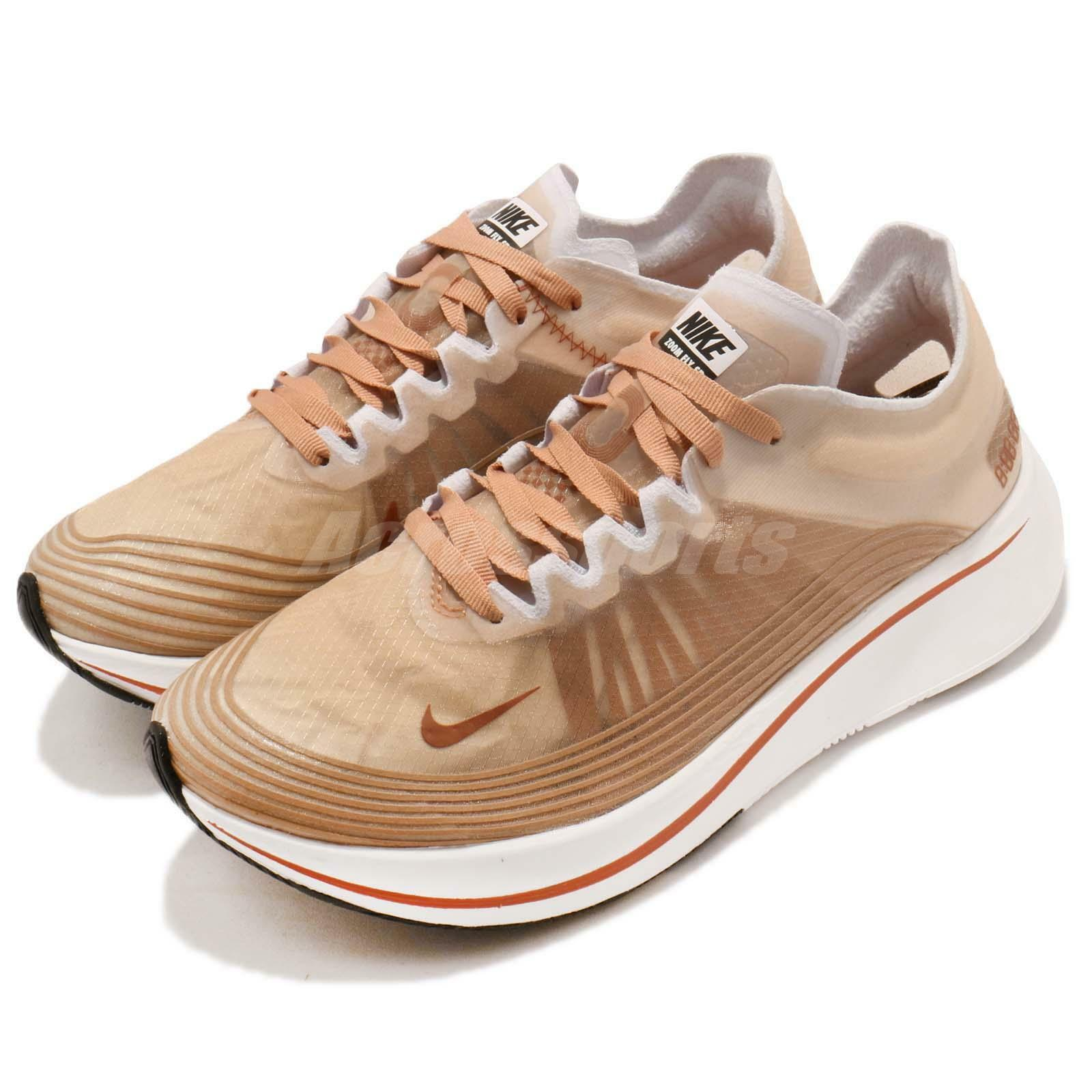 Nike Wmns Zoom Fly SP Dusty Peach White AJ8229-200 Women Running Shoes Sneakers AJ8229-200 White 746566