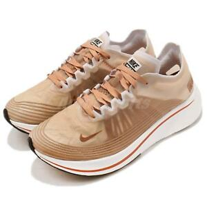 3331ee840aea Nike Wmns Zoom Fly SP Dusty Peach White Women Running Shoes Sneakers ...