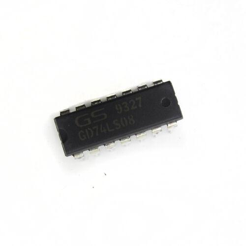 2//5//10PCS GD74LS08 74LS08 DIP-14 IC GOLDSTAR Brand New