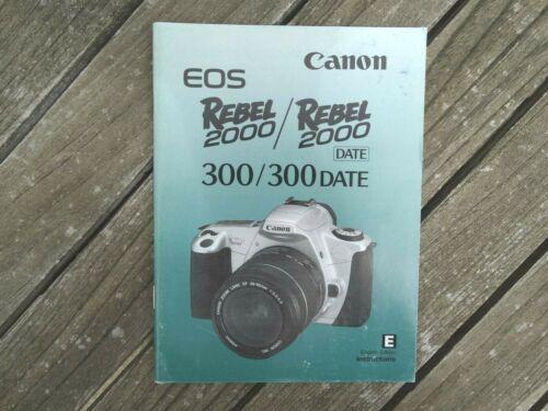 Canon Eos 300//300 fecha manual de instrucciones-original no una copia-Free UK Post