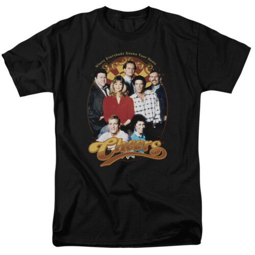 Cheers TV Show Early Cast GROUP SHOT Adult T-Shirt All Sizes