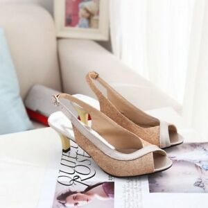 Women-Fashion-Ankle-Strap-Fish-Mouth-Open-Toe-High-Heels-Sandals-Comfortable