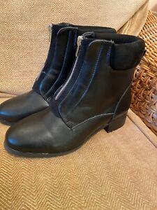 Ladies Shoes Black Ankle Boots Evans