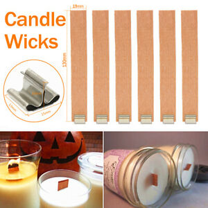 Wood Wooden Candles Core Wick Candle Making Supplies With Iron Stands 50pcs