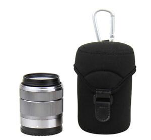 JJC Lens Case Bag Pouch for Olympus 60mm f/2.8 Canon EF-M 18-150mm Sony FE 50mm