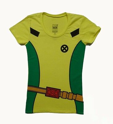I AM Rogue Costume 90's X-Men Marvel Comics Licensed Junior T Shirt  S-XL
