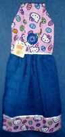 Hello Kitty Easter Blue Holiday Hanging Kitchen Fridge Hand Towel 1006
