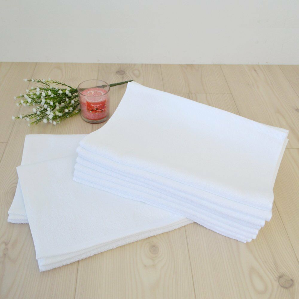 Japanese Senshu White Face Towel 10 pcs set Cotton 100/% 35 x 91 cm Made in JAPAN