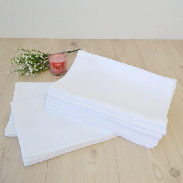 Japanese Senshu White Face Towel 10 pcs set Cotton 100/% 35 x 91 cm Made in JAPAN