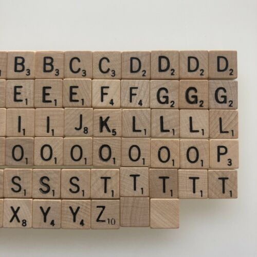 """Scrabble Game Travel Edition REPLACEMENT .5/"""" Wood Tiles /& Accessories"""