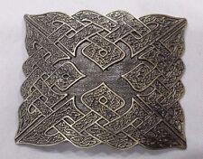 Men's Celtic Kilt Belt Buckle Antique Finish/Raised Celtic Knot Kilt Belt Buckle