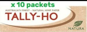 Tally-Ho-Hemp-Natura-Cigarette-Rolling-Papers-50-Leaves-x-10-packs