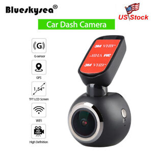 WiFi-Car-Dash-Cam-FHD-1080P-Camera-GPS-Dashboard-Recorder-Parking-Mode-Monitor