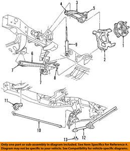 s l300 dodge chrysler oem 98 00 dakota front suspension shock absorber