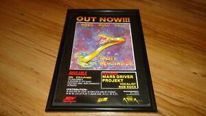 AXEL RUDI PELL nasty reputation-framed original advert