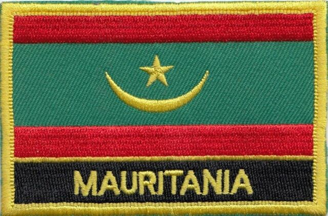 Mauritania Flag Embroidered Patch Badge - Sew or Iron on
