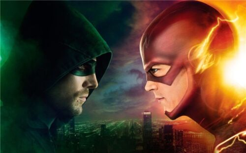 The Flash And Arrow TV Series Art Wall Poster 21x13/'/' 007