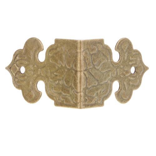 30 Stück Vintage Bronze Schmuck Box aus Holz Möbel Ecken DIY Deko