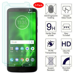 For Moto G7 Plus E5 G6 Play G7 Power Hd Clear Tempered Glass Screen Protector X2 Ebay