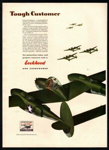 Vintage 1942 Lockheed Aircraft World War Two Print Ad