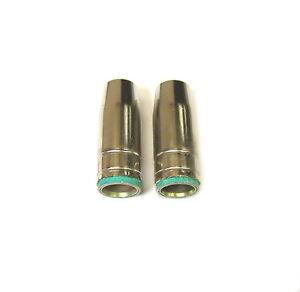 2PK Conical Nozzle Shroud Binzel Style Welding Welder MIG MB25 Gas Push On