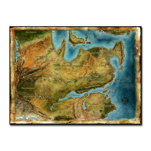 Details about Thedas Map Dragon Age Games Art Silk Fabric Poster 13x18  32x43 inch J655
