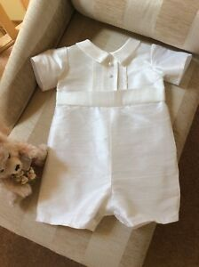 06a96df47 Image is loading BOYS-CHRISTENING-GOWN-BAPTISM-ROMPER-SUIT-BOYS-OUTFIT-
