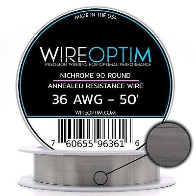 N90 Wire 36g GA 0.127 mm 100 ft 36 AWG Nichrome 90 Wire 100/'