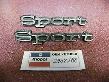 Two Used OEM Mopar Chrome 1969 1970 Plymouth Sport Satellite Emblem 2902789