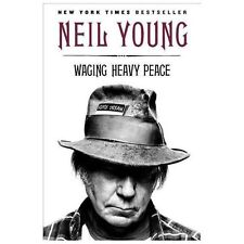 Very Insightful WAGING HEAVY PEACE NEIL YOUNG PAPERBACK 2013 Free U.S. Shipping