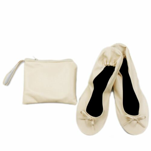 Women Foldable Ballet After Party Shoes for Christmas Birthday Gift Nude