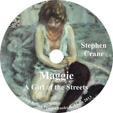 Maggie: A Girl of the Streets, Stephen Crane Prostitution Audiobook on 1 MP3 CD