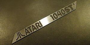 Atari-1040-STE-Label-Logo-Sticker-Badge-brushed-aluminum-100-x-10-mm-288